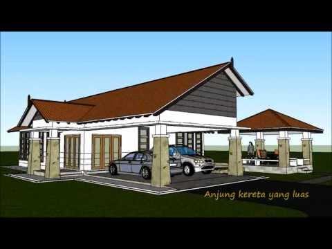pelan rumah banglo - Sila layari http://www.rekabentukrumah.com untuk tempahan pelan. Rekabentuk Pelan Rumah D1-07 (Banglo setingkat 4 bilik/ 2 bilik air berkeluasan 210 meter pe...
