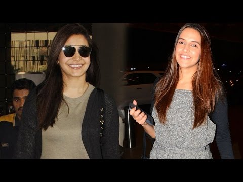 Airport Spotting: Anushka Sharma And Neha Dhupia S