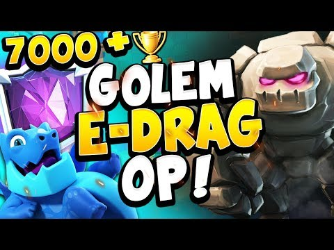 TOP 200 7000+ LIVE LADDER WITH BEST GOLEM DECK In META - CLASH ROYALE