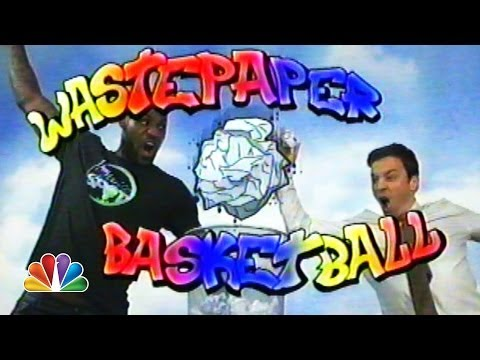 WATCH: LeBron James and Jimmy Fallon 'Wastepaper Basketball' video