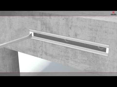 Tvirtinimo bėgeliai gelžbetonio konstrukcijoms