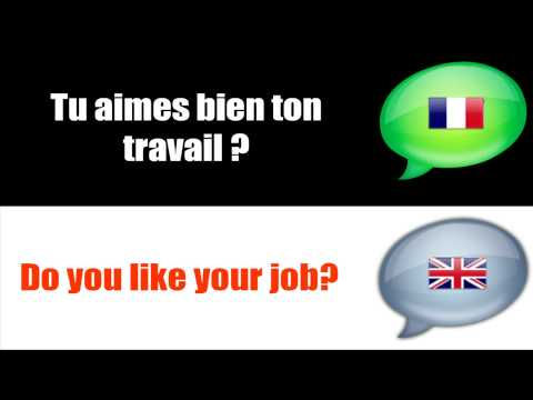 SURVIVAL FRENCH : TALKING ABOUT WORK