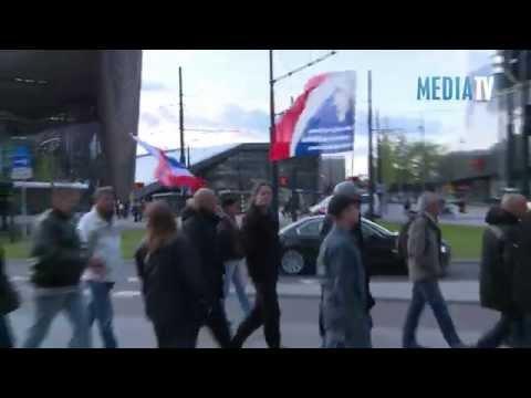 Protestmars in Rotterdam na vrijlating Volkert van der G.