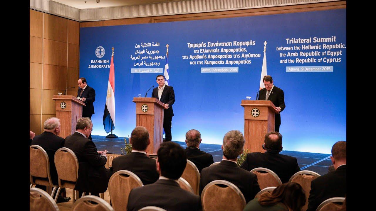 Κοινές Δηλώσεις Πρωθυπουργού με τους Προέδρους της Αιγύπτου και της Κύπρου