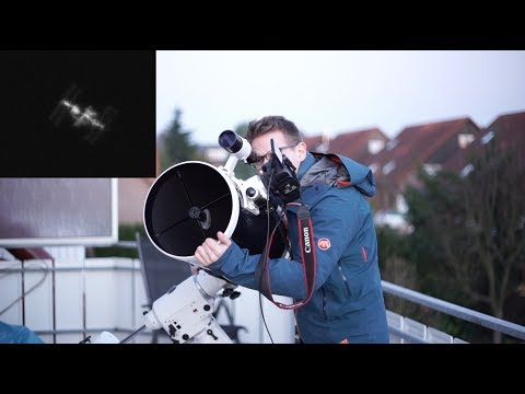 Capturing The ISS (International Space Station) Through My Telescope