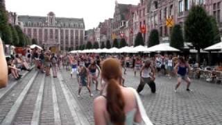 Leuven Belgium  city photo : Michael Jackson Beat It Flashmob @ Leuven, Belgium (Oude Markt)