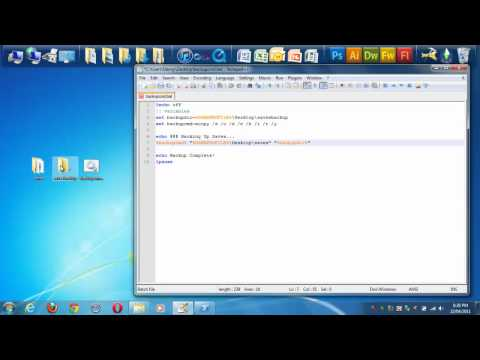 How To Back-Up Files Automatically With A Batch File