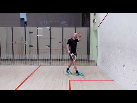 Squash tips:  Backhand return of serve - Return of serve after sidewall