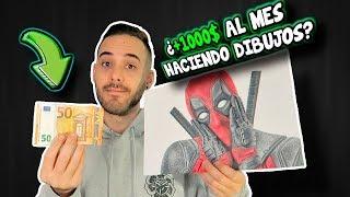 LAS 5 MEJORES MANERAS DE GANAR DINERO CON TUS DIBUJOS ¿+1000$ al mes sólo por dibujar 💰?