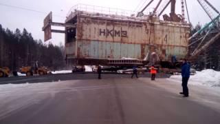 В Свердловской области сняли шагающий экскаватор весом более 700 тонн, «идущий» на новое месторождение
