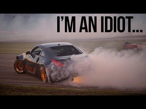 Trashed my car before making it on track...