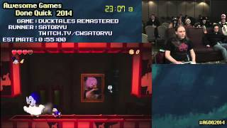 DuckTales: Remastered :: SPEED RUN (0:37:03) By Satoryu #AGDQ 2014