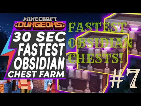 GET OBSIDIAN CHESTS FAST! GET READY FOR JUNGLE AWAKENS DLC Minecraft Dungeons tips & tricks #7