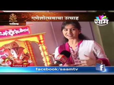 mrunal dusanis - Actress Mrunal Dusanis celebrates Ganpati festival at her home at Nashik every year. Mrunal talks to our reporter Pallavi Jhunnare on the occassion.