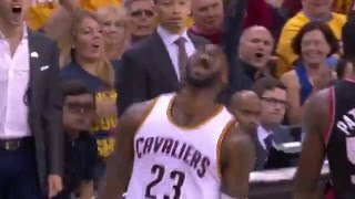 LeBron James Slams Down the Tomahawk Dunk by NBA