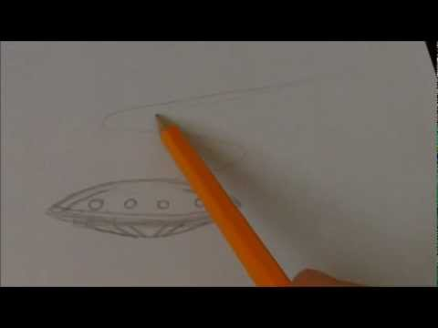 Draw A Simple UFO Spaceship In Over A Minute_Best UFO videos ever