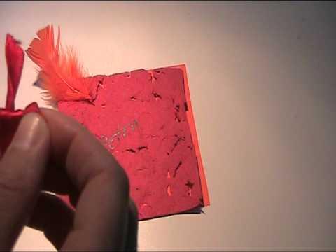 Papier für Tischkarte selber machen Teil: 2 Video