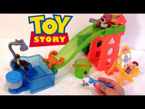 N' - From disney pixar cars2 color changers and toy story colour shifters, this is the slide and surprise playground playset. Create color changing designs at the...