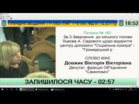 Трансляція сесії Львівської міської ради від 07.12.2017