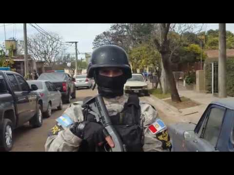 VIDEO del allanamiento en barrio Latinoamérica