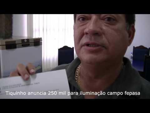 Jales - Vereador e Presidente da Câmara de Jales, anuncia 250 mil para iluminação do campo da FEPASA.
