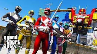 ULTIMATE POWER RANGERS MOD w/ MEGAZORD!! (GTA 5 Mods)