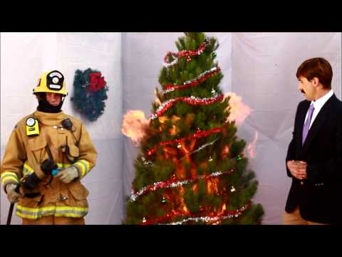 "Funny Fire Prevention Christmas Tree Safety Video by Ron Burgundy nephew ""Bob McLavender"""