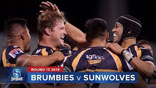 Brumbies v Sunwolves Rd.13 2019 Super rugby video highlights | Super Rugby Video Highlights