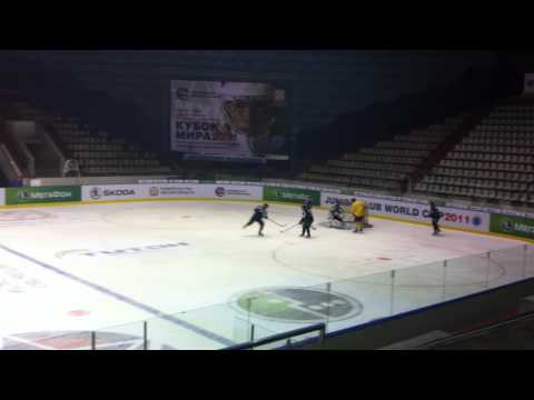 Fort McMurray Oil Barons final practice in Omsk Sep 2 2011
