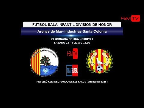 Arenys De Mar Vs Industrias Santa Coloma ( Infantil Div.honor ) 2018-2019/ 23-3-2019