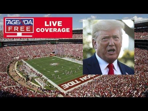 Trump Attends Alabama-LSU Football Game - LIVE NEWS COVERAGE