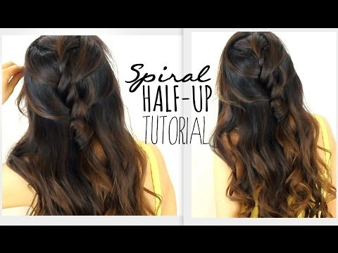 ★5MIN SPIRAL HALF-UPDO HAIR TUTORIAL | EASY HAIRSTYLES FOR SCHOOL PROM WEDDING | BRAIDS