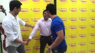 Varun teaches The Disco Step - Studen Of The Year at Radio Mirchi