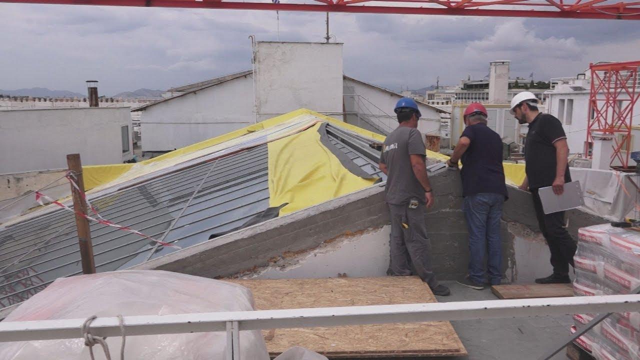 Η Βουλή υπό κατασκευή, συνεχίζονται οι εργασίες συντήρησης της οροφής
