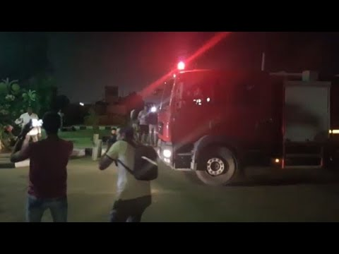 First responders arrive at scene of explosion near Cairo airport