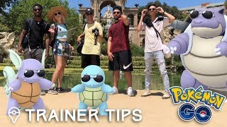 SQUIRTLE SQUAD IN REAL LIFE! Pokémon GO Community Day w/ MYSTIC7, PkmnMasterHolly, JTGily, & DX1 by Trainer Tips
