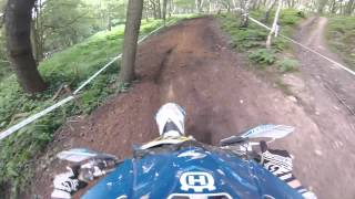 4. A lap with Jordan Ridgway on a Husqvarna TE 125 at BSEC Round 8 at Westwood 22/June/2014