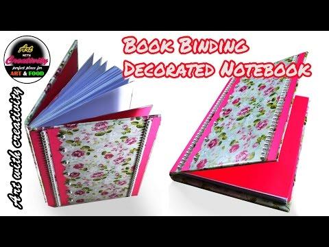 Book Binding | Decorated Notebook | Book Bindery | DIY | Art with Creativity 134