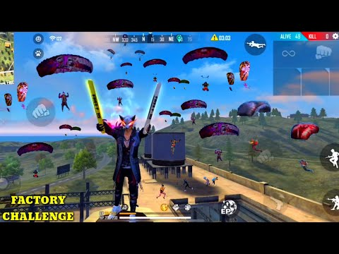 FREE FIRE FACTORY 16 KILLS BOOYAH - BACK TO BACK HEADSHOT OP LVL - FF UNBEATABLE OVERPOWER GAMEPLAY