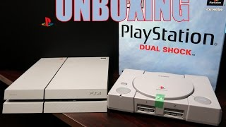 Unboxing the 20th anniversary edition ps4 & comparing it's color to the original playstation.