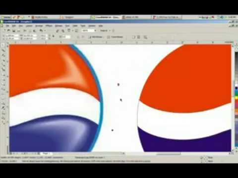 How To Design PEPSI LOGO With CorelDraw