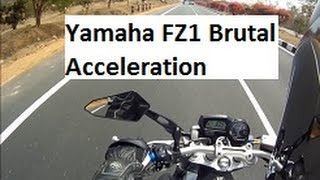 6. Yamaha FZ1 Brutal Acceleration from 100 to 200 Kmph. India, Hyderabad.