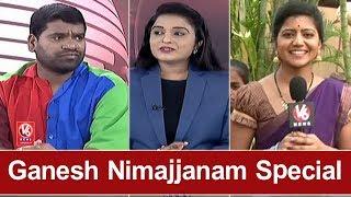 Ganesh Nimajjanam Special | Bithiri Sathi Funny Conversation With Savitri & Reporters