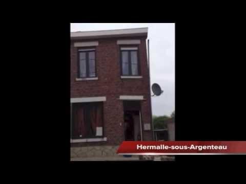 Effondrement d'une maison en direct à Hermalle-sous-Argenteau (Belgique)
