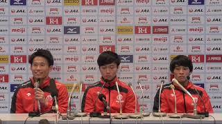 田中佑典選手 大会前記者会見