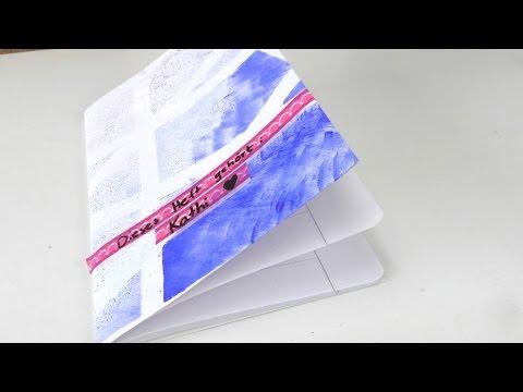 Schulheft verschönern / Schutzhülle für Heft ganz einfach selber machen / eigene Hefthülle / DIY