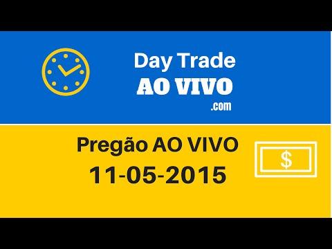 Day trade ao vivo Ibovespa 11-05-2015 (видео)