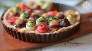 Tarte colorée aux légumes
