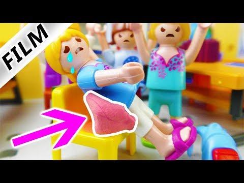 Playmobil Film Deutsch - KAUGUMMI KLEBT AN HANNAH! FIESE MÄDCHEN-BANDE MOBBT HANNAH! Familie Vogel