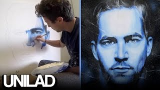 Amazing Paul Walker Tribute Painting
